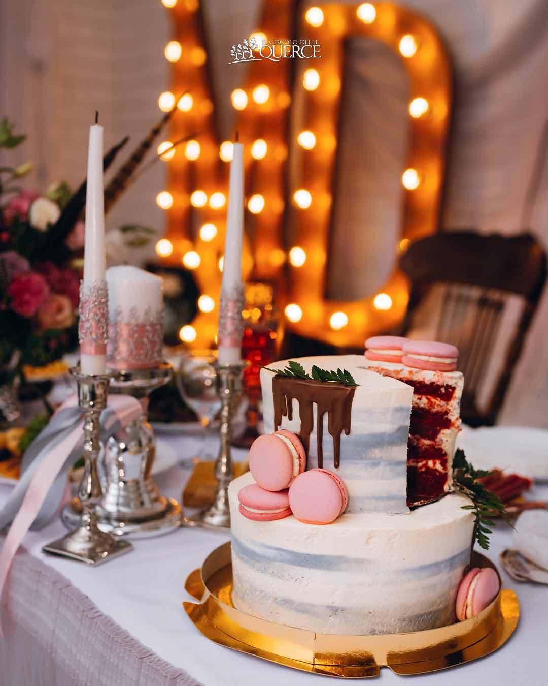 allestimento luci wedding cake