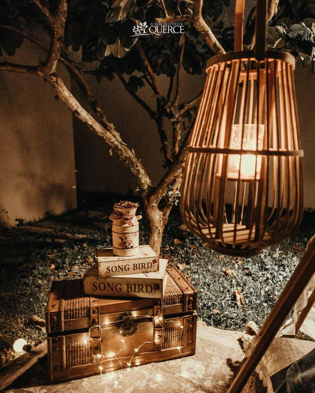decorazione matrimonio con luci